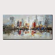 Hang-Malowane obraz olejny Ręcznie malowane - Abstrakcja Krajobraz Nowoczesny Zwinięte płótna