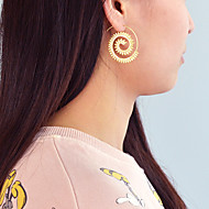 Women's Geometrical Hoop Earrings Earrings Stylish Simple Jewelry Gold / Silver For Daily Holiday 1 Pair