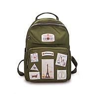 cheap School Bags-Women's Bags Polyester School Bag Zipper Dark Grey / Light Grey / Sky Blue