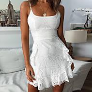Kadın's Temel Kılıf Elbise - Solid Mini