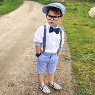 Dzieci / Brzdąc Dla chłopców Aktywny / Podstawowy Solidne kolory Łuk Długi rękaw Bawełna / Spandeks Komplet odzieży Biały