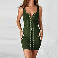 女性用 ベーシック ボディコン シース ドレス ソリッド ミニ