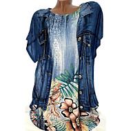 Chemise Grandes Tailles Femme, Fleur - Coton