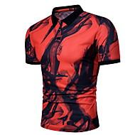 Majica s rukavima Muškarci Color block Okrugli izrez Slim Obala XL