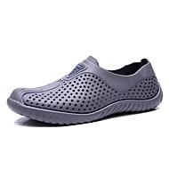 رجالي أحذية الراحة PU الصيف صنادل أبيض / أسود / رمادي