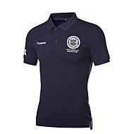 남성용 솔리드 셔츠 카라 슬림 Polo 면 네이비 블루 XXXL