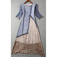 Damen Grundlegend A-Linie Kleid Maxi