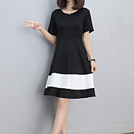 kvinders knælængde en linje kjole sort s m l xl