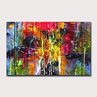 olcso -Hang festett olajfestmény Kézzel festett - Absztrakt Klasszikus Modern Anélkül, belső keret