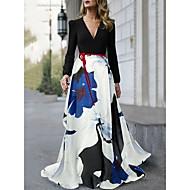 Damen Boho Elegant Swing Kleid - Druck, Geometrisch Asymmetrisch