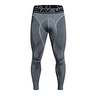 cheap Compression Clothing-UABRAV Men's Compression Pants Running Tights Black Grey Sports Checkered / Gingham Elastane Compression Clothing Leggings Running Fitness Workout Activewear Breathable Quick Dry Sweat-wicking High