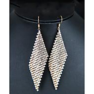 สำหรับผู้หญิง ยาว Drop Earrings เลียนแบบเพชร ต่างหู เครื่องประดับ สีทอง / สีเงิน สำหรับ งานแต่งงาน วันครบรอบ งานราตรี คลับ บาร์ 1 คู่