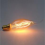 1PC 40 W E14 C35 أصفر الجسم شفافة المتوهجة خمر اديسون ضوء لمبة 220-240 V
