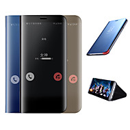 Etui Til Samsung Galaxy Galaxy S10 / Galaxy S10 Plus Belegg / Speil / Flipp Heldekkende etui Ensfarget Hard Silikon til Galaxy S10 / Galaxy S10 Plus / Galaxy S10 E