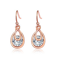 Women's Clear Cubic Zirconia Hollow Out Drop Earrings Earrings Simple Classic European Jewelry Silver / Rose Gold For New Year Valentine Festival 1 Pair