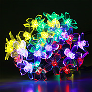 GMY 50 Flower LED Solar Patio Lights Fairy String Light For Garden Holiday Party Wedding Decoration - Multi-Color