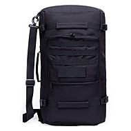 Sırt Çantaları Askeri Taktik Sırt Çantası 50 L - Su Geçirmez Giyilebilir Çok Fonksiyonlu Açık hava Kamp & Yürüyüş Avlanma Seyahat Spandex Yonca Siyah Açık Kahverengi