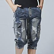 Herre Basale Shorts Bukser - Ensfarvet Blå