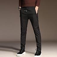 Pánské Základní Oblekové Kalhoty - Jednobarevné Vodní modrá