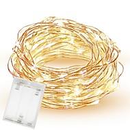 povoljno -10m 33ft 100 vodio smd 0603 vila svjetla rezanje AA baterije vodootporan bakrene žice treptati kreativni niz svjetla za spavaću sobu zatvoreni vanjski vjenčanja spavaonica dekor