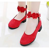 Κοριτσίστικα Παπούτσια Σουέτ Φθινόπωρο Ανατομικό / Tiny Τακούνια για Teens Τακούνια για Παιδιά / Εφηβικό Μαύρο / Κόκκινο
