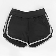 Dámské Základní Štíhlý Kraťasy Kalhoty - Jednobarevné Šedá Fialová Fuchsiová M L XL