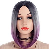 Synteettiset peruukit Kinky Straight Tyyli Bob-leikkaus Suojuksettomat Peruukki Violetti Blonde / violetti Synteettiset hiukset 14 inch Naisten Muodikas malli / Pehmeä / Naisten Violetti Peruukki