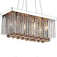 رخيصةأون -6-الضوء كريستال نجفات ضوء سفل الكروم معدن كريستال 110-120V / 220-240V لا يشمل لمبات / E12 / E14