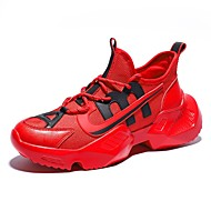 Per uomo Scarpe comfort PU (Poliuretano) Primavera scarpe da ginnastica Corsa Bianco / Nero / Rosso