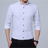 miesten puuvillainen paita - vankka värillinen paita kaulus