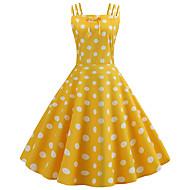 فستان نسائي A line عتيق خمسينيات طباعة طول الركبة منقط