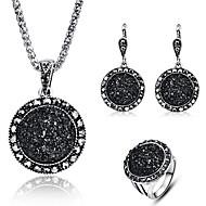 Pentru femei Clasic Set bijuterii Reșină Stilat, Clasic Include Cercei Picătură Coliere cu Pandativ Band Ring Alb / Negru / Albastru Pentru Petrecere Concediu