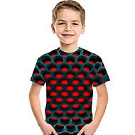 Kinder / Baby Jungen Aktiv / Grundlegend Geometrisch / Druck Druck Kurzarm Polyester / Elasthan T-Shirt Rote