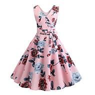 מידי פרחוני - שמלה גזרת A בגדי ריקוד נשים