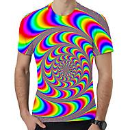 זול -3D / קשת צווארון עגול מידות גדולות טישרט - בגדי ריקוד גברים דפוס קשת US42 / קיץ