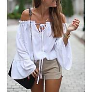 Kadın's Bluz Bağcık / Kırk Yama, Solid Zarif Beyaz US8 / UK12 / EU40