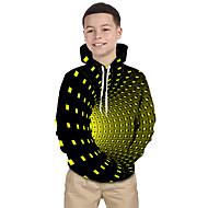 cheap -Kids Toddler Boys' Active Basic Rubik's Cube Geometric Galaxy Print Print Long Sleeve Hoodie & Sweatshirt Black