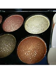 6 Øjenskyggepalette Glans Øjenskygge palet Pudder Normal Daglig makeup Rygende makeup