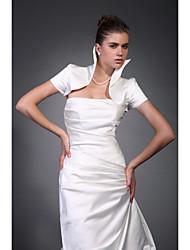 cheap -Short Sleeves Taffeta Satin Bridal Jacket / Wedding Wrap (WSM0417)