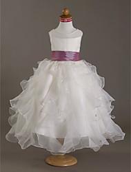 Недорогие -атласная свадебная вечеринка / вечерние наряды с бисером из горного хрусталя