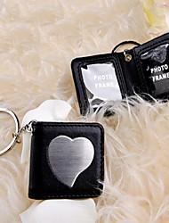 Black Aspen Leather Keyring/Photo Frame