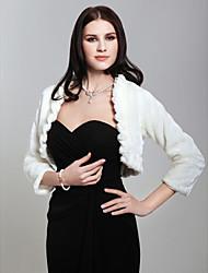 Feather/Fur Wedding Fur Wraps Wedding  Wraps With Ruffles Coats / Jackets
