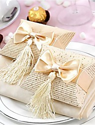 cheap -Pillow Card Paper Favor Holder with Tassel Favor Boxes - 12