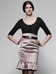 cheap -Women's Vintage Pencil Skirts - Color Block