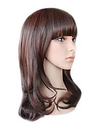 baratos -capless longa alto grau de qualidade sintético castanho chocolate peruca de cabelo crespo mini-