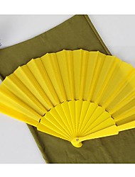 Yellow Silk Hand Fans (set of 6) Wedding Favors Classic Them