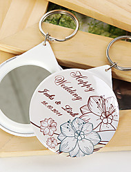 Personalized Mirror Key Ring - Flowers (set of 12)