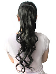 זול -קוקו מתולתל קלאסי שיער סינטטי 22 אינץ' ארוך הַאֲרָכַת שֵׂעָר יומי