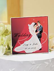 povoljno -torta toppers personalizirane kristala torta gornji - romantična crvena