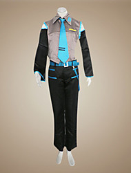 cheap -Inspired by Vocaloid Mikuo Video Game Cosplay Costumes Cosplay Suits Patchwork Sleeveless Shirt Pants Sleeves Belt Tie